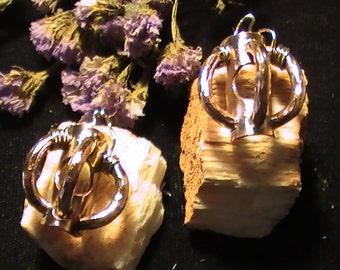 handmade copper earrings Divine union