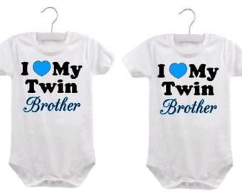 twin brother baby boy one piece  twin brother baby bodysuit outfit twin brother baby sayings