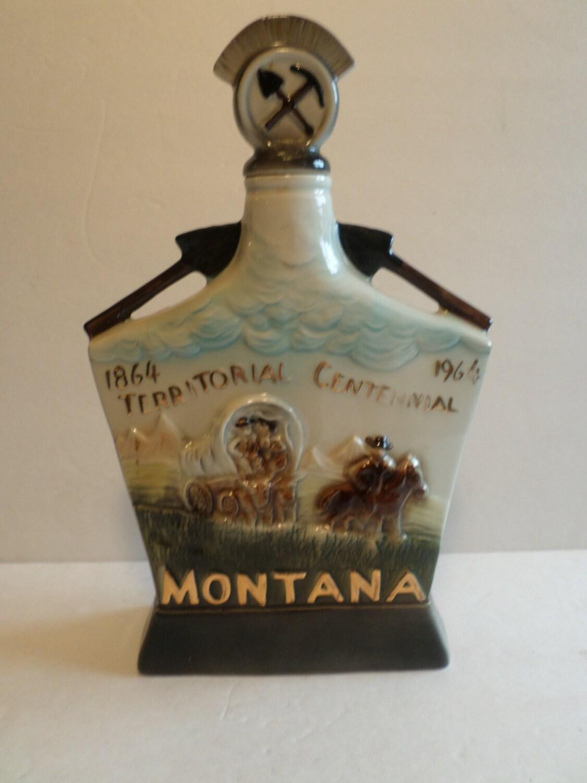 Vintage Jim Beam Decanter Montana By Aandmvintagemarket On