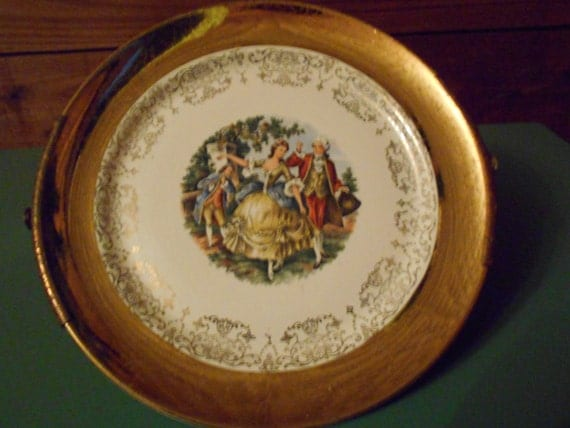 W.S. George- Crest o Gold, Sabin, Warranted 22K Collectors Plate