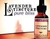 Lavender Tincture-Relaxing bliss in a bottle-For stress-insomnia-overwork-Delicious lavender extract-1 ounce glass bottle