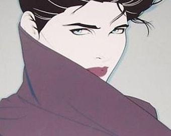 1985 Patrick Nagel - The Book - Dumas & Mirage Editions Serigraph Poster Print