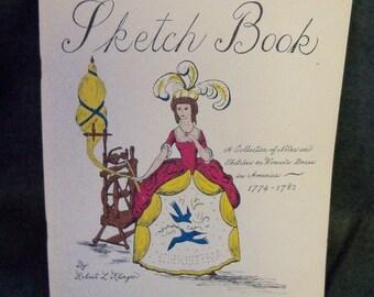 Vintage 1974 Sketch Book Women's  Sketches& Patterns