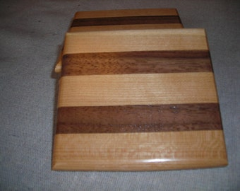 Handmade Wood Coaster Set ***FREE SHIPPING***