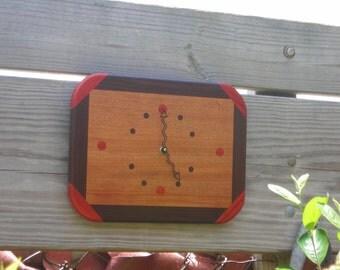 Handmade Exotic Wood Clock ***FREE SHIPPING***