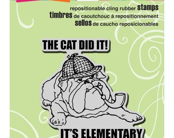Sherlock Dog - Cling Rubber Stamp by Stampendous