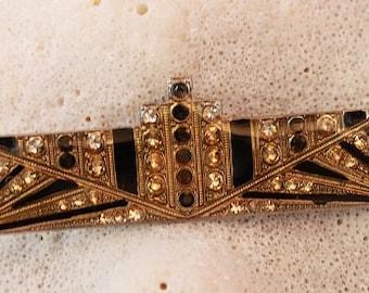 Vintage ART DECO BAR Pin,Beautiful!