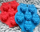6-owl soap mold Flexible Silicone Mold polymer clay mold Cake Mold Chocolate Mould Resin Mold Biscuit Mold mould fimo mold fondant mould