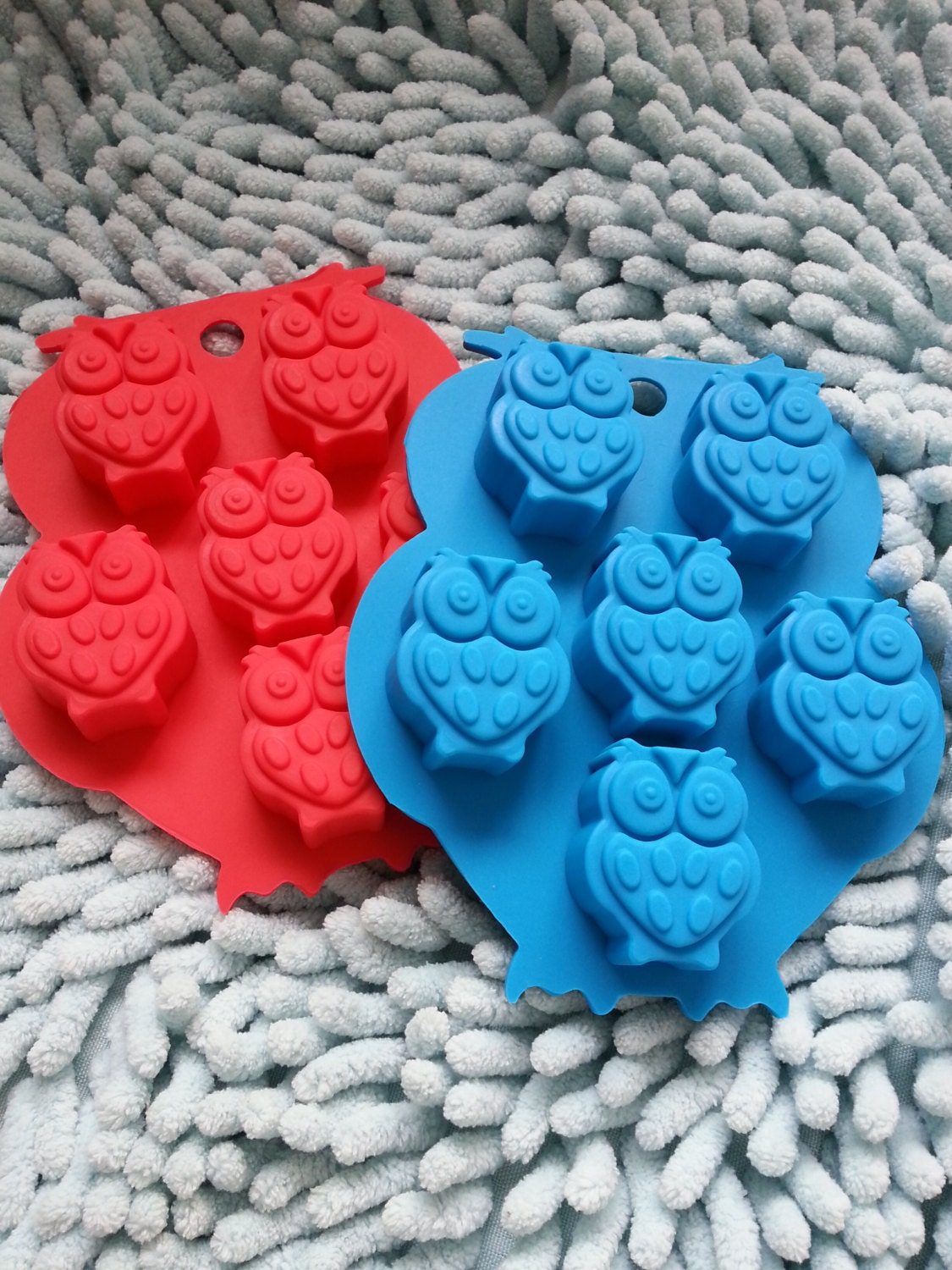 6 Owl Soap Mold Flexible Silicone Mold Polymer Clay Mold Cake