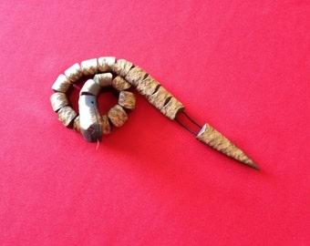 Chotki - Snake (handmade of ebonite)