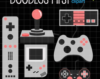 Video Game Controllers Digital Clip Art Set Digital Clip Art Set for Personal and Commercial Use