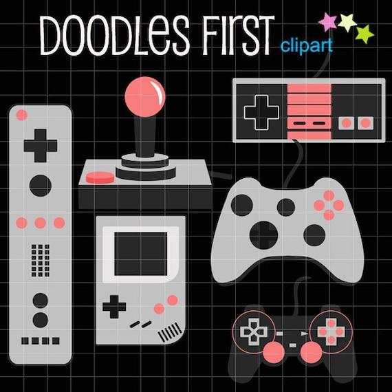 Video Game Controllers Digital Clip Art Set Digital Clip Art