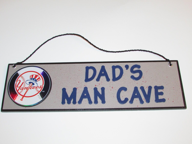 Man Cave Yankees Sign : Mlb new york yankees baseball dad s man cave sign