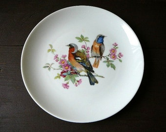 Kaiser Plate with Birds, Made in West Germany, Collectible Plate @78