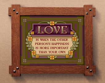 Arts and Crafts Framed Print. Love subject. Great for Arts and Crafts, Mission style and Craftsman homes.