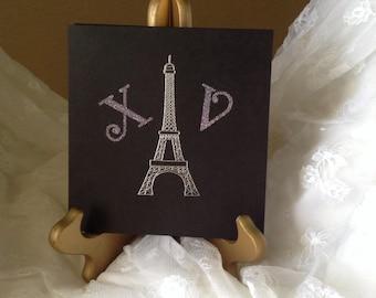 "Eiffel Tower Quinceañera Invitations ""XV"" (10 invitations)"