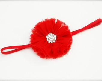 Flower headband - Red