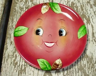 RARE Four PY Japan Smiling Apple Salad Plates