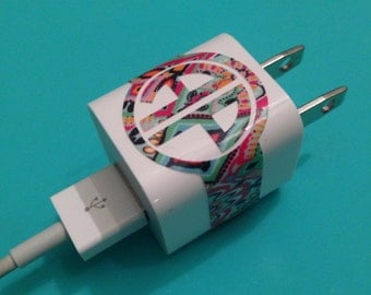 Lilly Pulitzer Inspired iPhone Charger Monogram NEWEST PRINTS