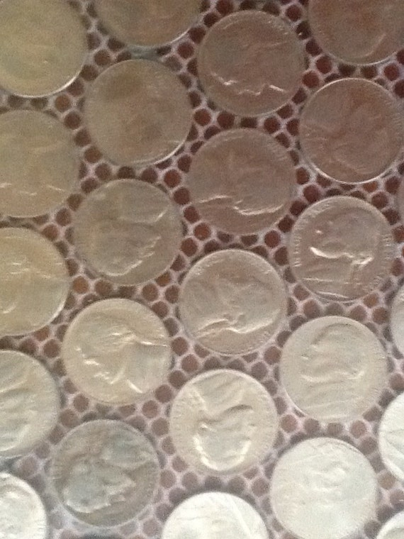 4 Sheets Of Real Us Nickel Coin Mosaic Tiles From Kvs Mint
