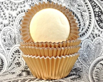 Mini Gold Foil Solid Color Cupcake Liners (50)