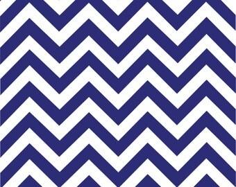 Navy chevron craft  vinyl sheet - HTV -  Adhesive Vinyl -  navy blue and white large zig zag pattern   HTV98