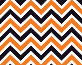 Orange Black And White Chevron Heat Transfer Vinyl Sheet