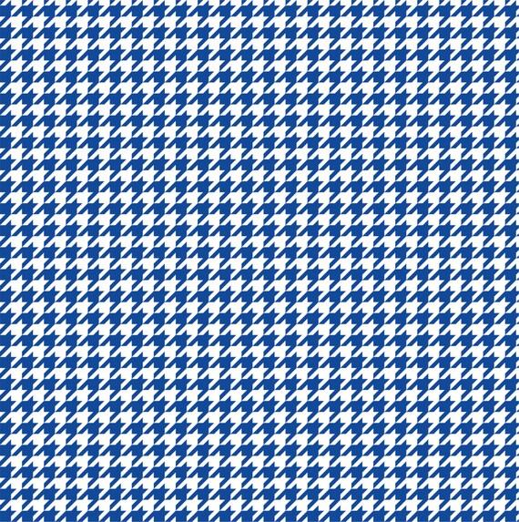 Pied de poule bleu motif vinyle feuille par breezeprintcompany - Motif pied de poule ...