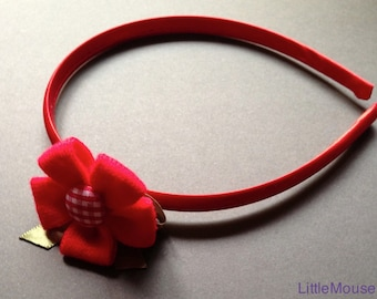 Fabric flower headband button