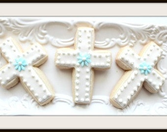 Custom Decorated Baptism Sugar Cookies