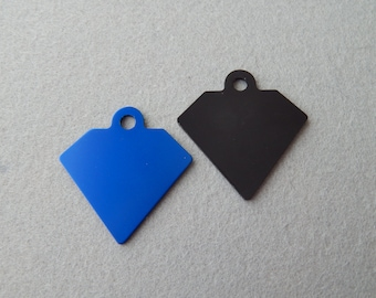 Laser Engraved Large Diamond Pet ID Tag