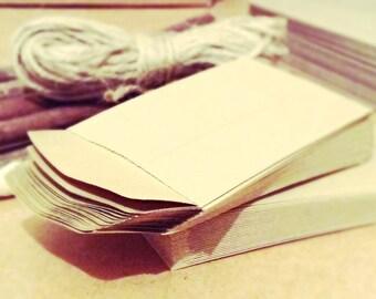 Mini Kraft envelopes small brown envelopes money gift Eco friendly recycled