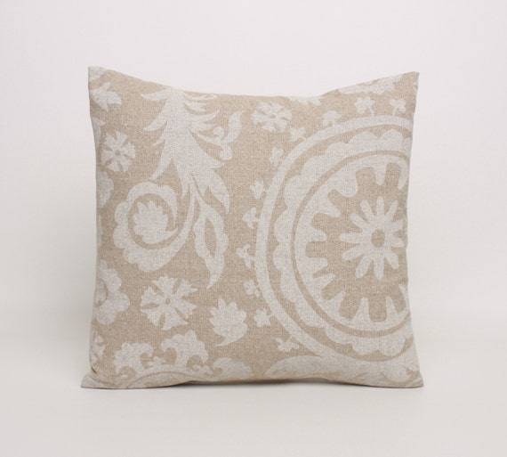 Beige Throw Pillow Cover 20x20 Pillow Covers in Beige and