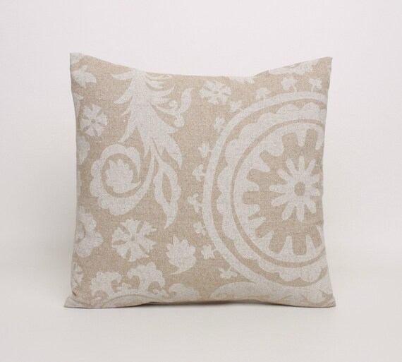 Decorative Pillows For Beige Couch : Beige Throw Pillow Cover 20x20 Pillow Covers in Beige and