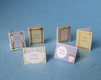 Childrens Birthday Cards ~ 6pk  ~ 12th Dolls House Miniature