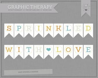 Baby Sprinkle Banner for an Alternative Gender Neutral Baby Shower // Instant Download