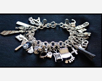 Gray Fifty Shades of Grey Charms Bracelet