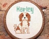 Custom Dog Cross Stitch Portrait