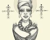 The Priestess- Print 8x10...