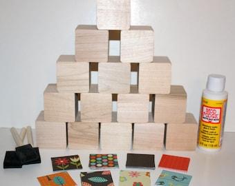 Diy baby block kit etsy for Child craft wooden blocks
