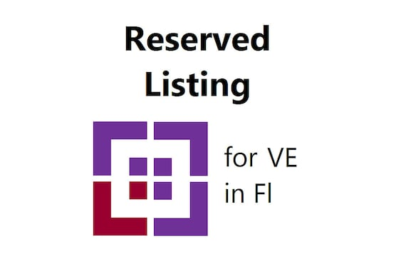 Reserved Listing Purple