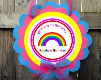 Rainbow Birthday Party Sign
