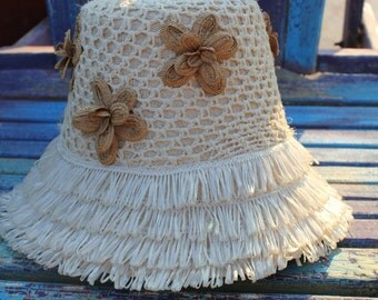 Super cute women's  vintage beach hat