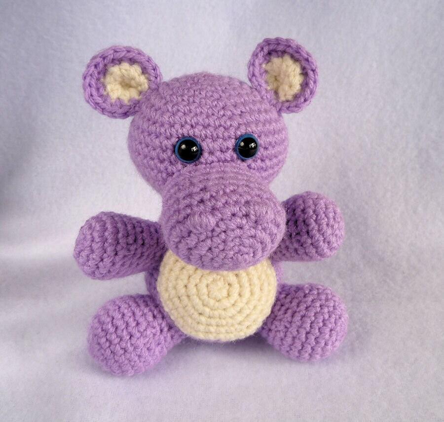 Amigurumi Crochet Toys : Crochet Toy Hippo Amigurumi Hippo Baby Hippo Stuffed