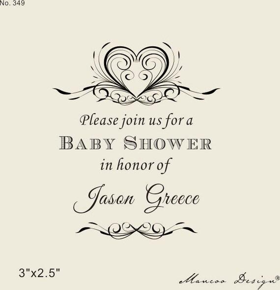 custom stamps 3 x2 5 baby shower stamp baby shower invitat