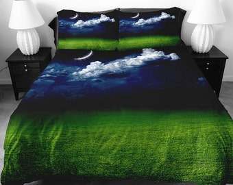 Popular items for lime green bedding on etsy - Black and lime green bedding ...