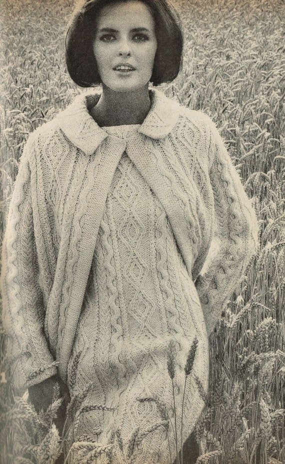 Items similar to VCP107 ladies aran dress and coat vintage ...