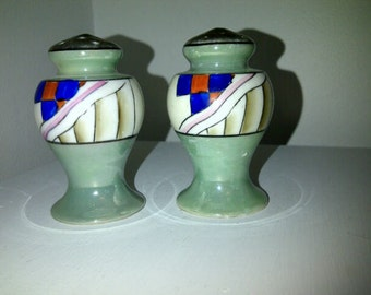 Vintage Lusterware Salt and Pepper Deco Style Made in Japan
