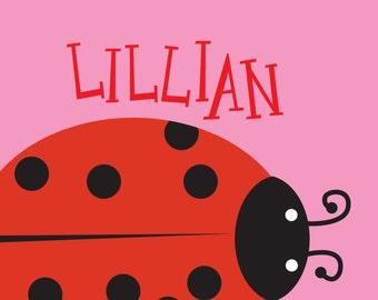 Custom Kid Art Ladybug