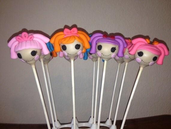 Lalaloopsy inspired Cake Pops, Lalaloopsy party favors, Lalaloopsy ...